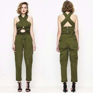 Alice McCall On My Way Tie Jeans in Khaki Green